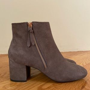 Cole Haan Suede Grayish-Taupe Ankle Boot